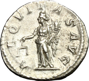 R/ Severus Alexander (222-235). AR Denarius, 222-228.  D/ Bust right, laureate, draped. R/ Aequitas standing left, holding scales and cornucopiae. RIC 127c. AR. g. 3.41  mm. 19.00   From masterly engraved dies. About EF.