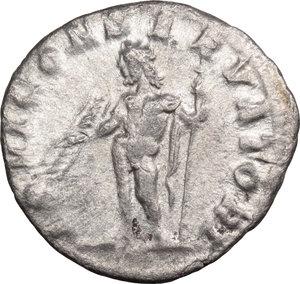 R/ Severus Alexander (222-235). AR Denarius, 222-228.  D/ Bust right, laureate, draped. R/ Jupiter standing left, holding thunderbolt and scepter. RIC 141c. AR. g. 2.63  mm. 18.00    VF/About VF.