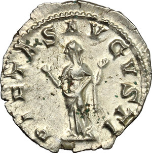 R/ Gordian III (238-244). AR Denarius, 241 AD.  D/ Bust right, laureate, draped, cuirassed. R/ Pietas standing front, head turned left, hands raised for prayer. RIC 129. AR. g. 3.21  mm. 20.00    EF.