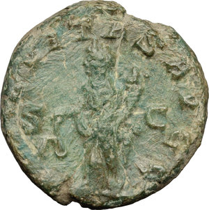 R/ Philip I (244-249). AE 22mm, 244-249.  D/ Bust right, laureate, draped, cuirassed. R/ Aequitas standing left, holding scales and cornucopiae. RIC 166. AE. g. 7.22  mm. 22.00   Olive-green patina. About VF.