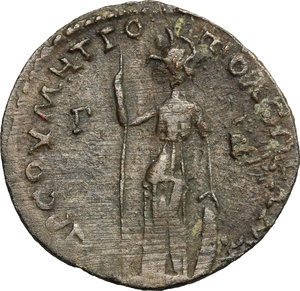 R/ Valerian I (253-260). AE 31mm, Cilicia, Tarsus mint, 253-260.  D/ Bust right, radiate, draped, cuirassed. R/ Athena standing left, holding spear and leaning on shield. SNG France 1808. AE. g. 15.77  mm. 31.00   Dark brown and green patina. About VF.