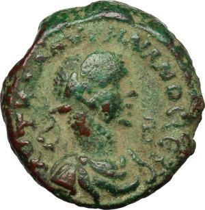 D/ Aurelian with Vabalathus (270-275). AE Tetradrachm, Alexandria mint, 271-272.  D/ Bust of Aurelian right, laureate, draped, cuirassed. R/ Bust of Vabalathus right diademed, draped, cuirassed. Kampmann 106.72. AE. g. 10.68  mm. 21.00   Green patina. Good F.