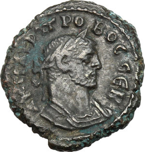 D/ Probus (276-282). AE Tetradrachm, Alexandria mint, 281-282.  D/ Bust right, laureate, cuirassed. R/ Eagle standing left, head turned back, holding wreath. Kampmann 112.38. AE. g. 5.29  mm. 20.00   Heavily toned. VF/About VF.