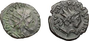 obverse: Lot of 2 AE Barbarous radiate, 4th century
