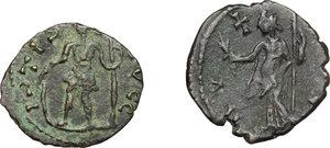 reverse: Lot of 2 AE Barbarous radiate, 4th century