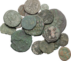 obverse: Multiple lot of 20 Roman Imperial and Byzantine AE coins