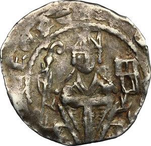 obverse: Germany.  Heinrich I of Molenark, Archbishop of Cologne (1225-1235).. AR Kölner Pfennig, Attendorn mint, 1225-1235