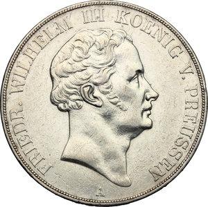 obverse: Germany.  Friedrich Wilhelm III (1797-1840).. AR Double Vereinstaler, 1840