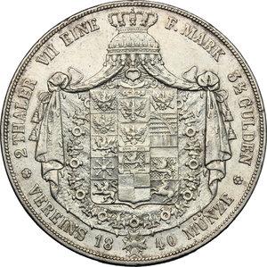 reverse: Germany.  Friedrich Wilhelm III (1797-1840).. AR Double Vereinstaler, 1840