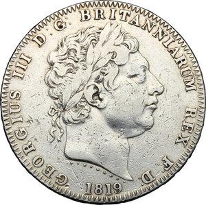 obverse: Great Britain.  George III (1760-1820).. AR Crown, 1819