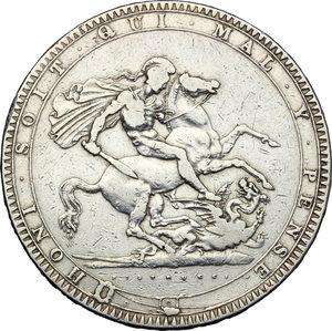 reverse: Great Britain.  George III (1760-1820).. AR Crown, 1819