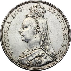 obverse: Great Britain.  Victoria (1837-1901).. AR Crown, 1891