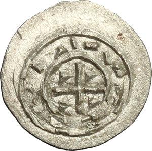 reverse: Hungary.  Koloman (1095-1116).. AR Denar, 1095-1116