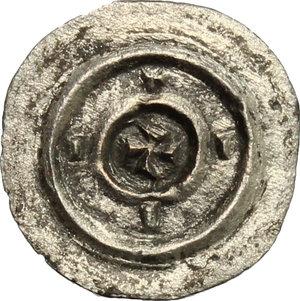 reverse: Hungary.  Bela II (1131-1141).. AR Denar, 1131-1141