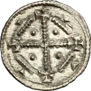 reverse: Hungary.  Geza II (1141-1162).. AR Denar, 1141-1162