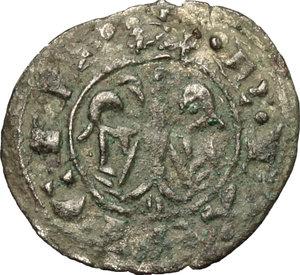 reverse: Italy..  Federico II (1194-1250).. BI Half denaro 1221, Messina mint