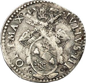 obverse: Italy..  Julius III (1550-1555).. AR Giulio, Ancona mint
