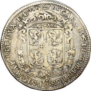 obverse: Italy..  Charles I Gonzaga Nevers (1627-1637).. AR Half ducatone, Mantova mint
