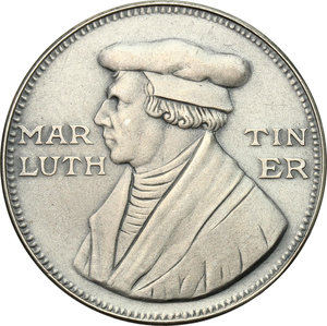 obverse: Germany.  Martin Luther (1483-1546).. AR Medal, 1967