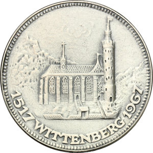 reverse: Germany.  Martin Luther (1483-1546).. AR Medal, 1967