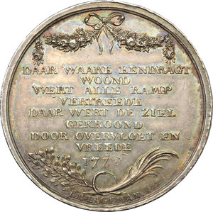 reverse: Netherlands. AR Medal 1771
