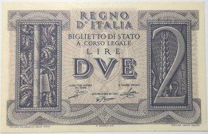 obverse: Banconote. Regno d Italia. 2 lire Impero. 14-11-1939. Gig BS8A.