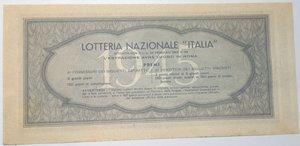 reverse: Banconote. Regno D italia. Lotteria Nzionale Italia 1945. Biglietto 30 LIRE.