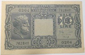 obverse: Banconote. Luogotenenza. 10 Lire. Giove. 23-11-1944. Gig. BS19B.