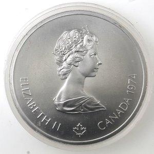 obverse: Canada.Elisabetta II.10 Dollari 1974. Olimpiadi di Montreal 1976. Indiani. AG 925.