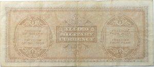 reverse: Banconote. Occupazione Americana. 100 Am lire. Bilingue.