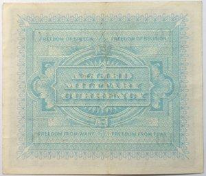 reverse: Banconote. Occupazione Americana. 10 Am lire. Bilingue.