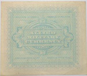 reverse: Banconote. Occupazione Americana. 2 Am lire 1943. Monolingua. FLC.