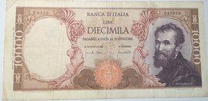 obverse: Banconote. Repubblica Italiana. 10.000 lire Michelangelo. Dec. Min. 8-06-1970.