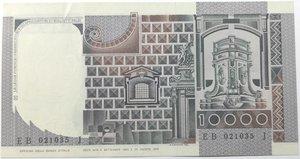reverse: Banconote. Repubblica Italiana. 10.000 lire. Del Castagno. Dec. Min. 6-09-1980.