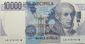 obverse: Banconote. Repubblica Italiana. 10.000 lire Alessandro Volta. Dec min. 19-09-1984.