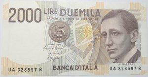 obverse: Banconote. Repubblica Italiana. 2.000 lire Marconi. Dec. Min. 1992.