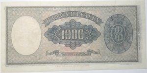 reverse: Banconote. Repubblica Italiana. 1.000 lire. Dec. Min. 25 -09-1961. Rif. Gig. BI 54E.