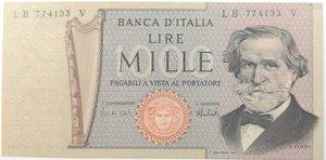 obverse: Banconote. Repubblica Italiana. 1.000 lire. G. Verdi. Dec Min. 15-02-1973.  Gig. BI56C.