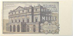 reverse: Banconote. Repubblica Italiana. 1.000 lire. G. Verdi. Dec Min. 15-02-1973.  Gig. BI56C.