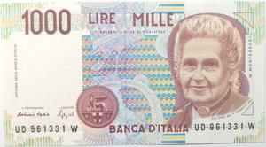 obverse: Banconote. Repubblica Italiana. 1.000 lire. Montessori. 1994. Gig. BI58D.