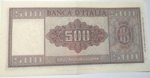 reverse: Banconote. Repubblica Italiana. 500 lire. Spighe. Dec. Min. 20-03-1947.
