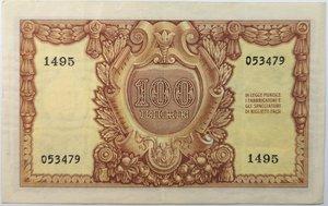 reverse: Banconote. Repubblica Italiana. 100 lire. 31/12/1951. Italia Elmata.