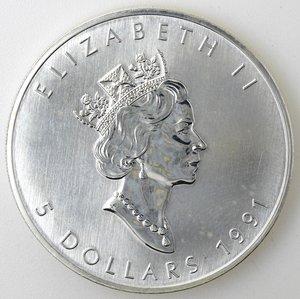 obverse: Canada.5 Dollari 1994. foglia d acero. AG 999.