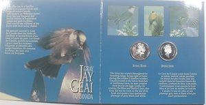 reverse: Canada.50 Centesimi 1995. Uccelli. AG 925. n. 4 pezzi.