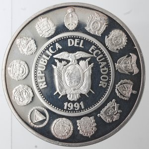 obverse: Ecuador. 5000 Sucre 1991. Ag 925.