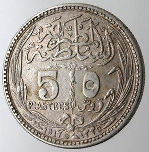 obverse: Egitto. 5 Piastre 1917. Ag 833.