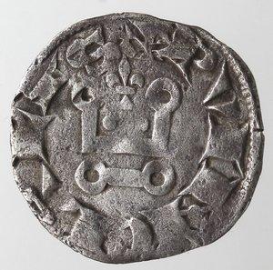 reverse: Francia. Provenza. Carlo I d Angiò. 1266-1278. Denaro tornese. Mi.