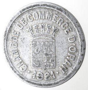 obverse: Algeria. Chambre de Commerce d Oran. 25 centimes.Al.