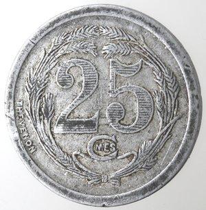 reverse: Algeria. Chambre de Commerce d Oran. 25 centimes.Al.