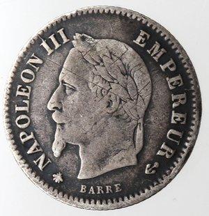 obverse: Francia. Napoleone III. 20 centimes 1867 A. Ag 835.